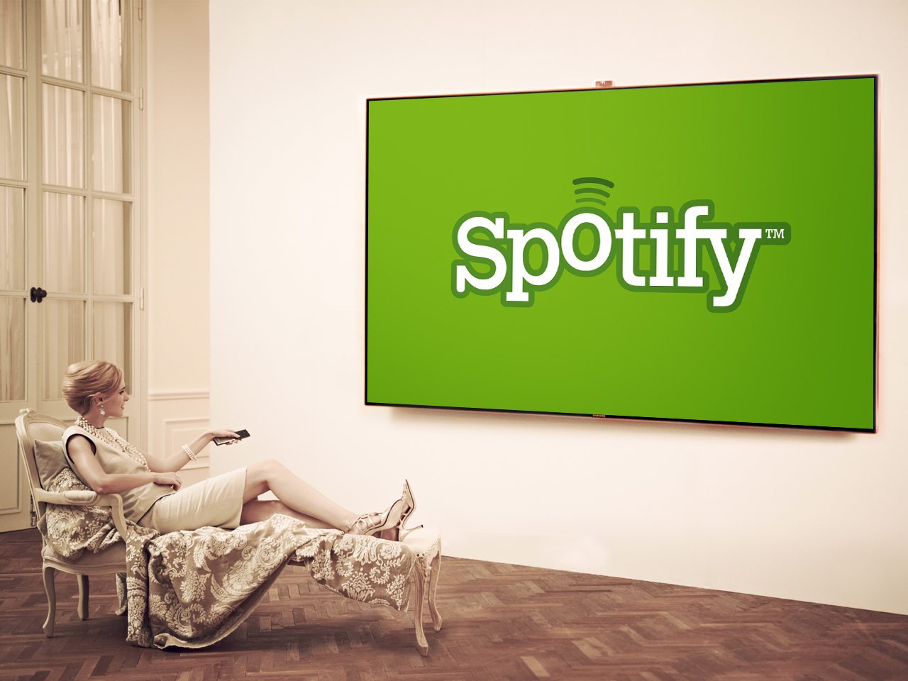 Spotify-Video-on-Samsung-TV
